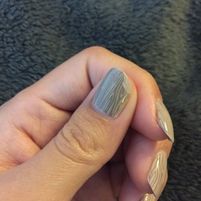 I filled in the chipped area with some more polish