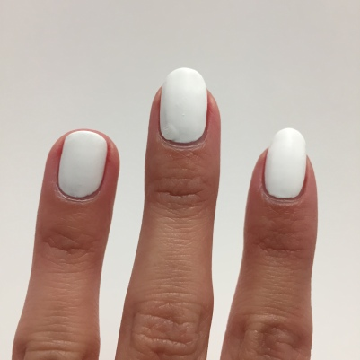 My white polish was just a little too thick