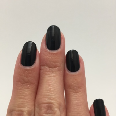 One coat of black