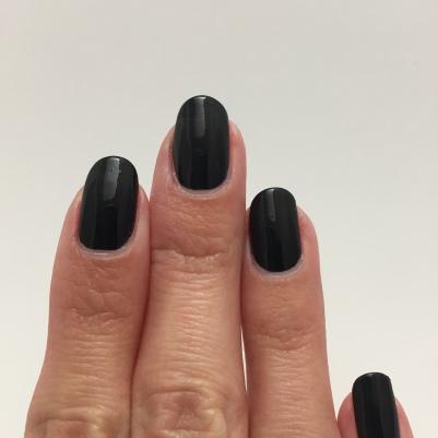 One coat of black