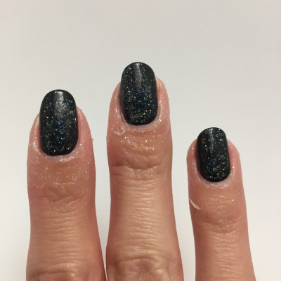 Black Holo Witch over black, with Simply Peel