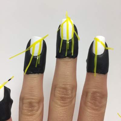 Added striping tape, and latex-free cuticle tape