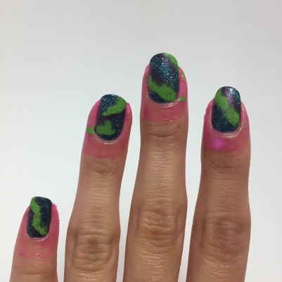 new liquid latex, and the sponged green