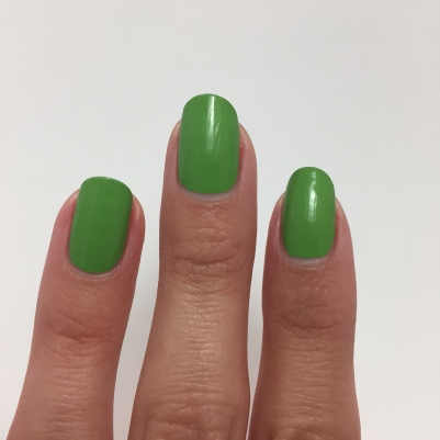 One coat of Painted Polish - Stamped in Greenery 2.0