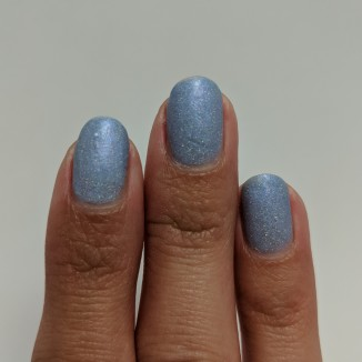 Three coats of the thermal blue (in it's luke warm state)