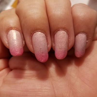 My mom's pink thermal polish