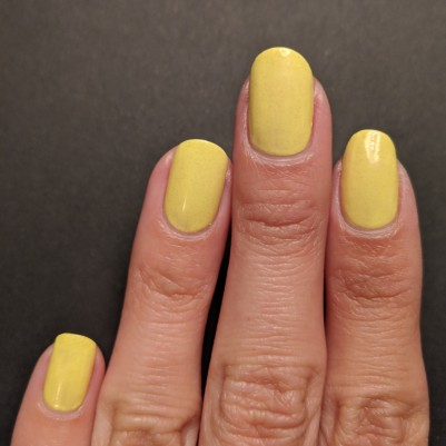 Three coats of yellow