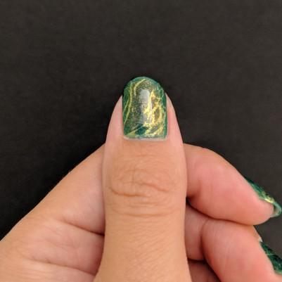I missed on my thumb a bit