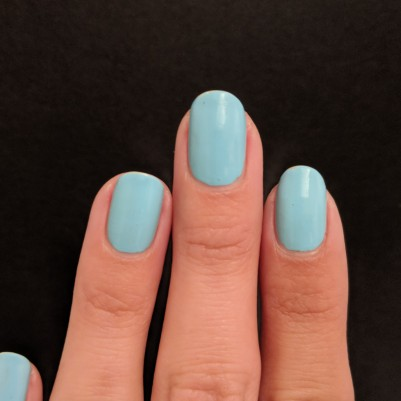 One coat of Sally Hansen - Blue Away!