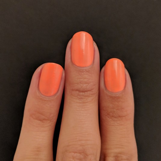 Two coats of Envy Lacquer - Peach Fizz