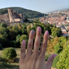 My nails out in Heidelberg, Germany