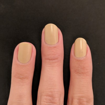 One coat of KL Polish - Snickerdoodle