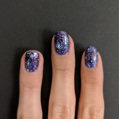 Some extra stars stamped in shimmery black