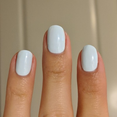 Two coats of Stached Polish - Castle Blue