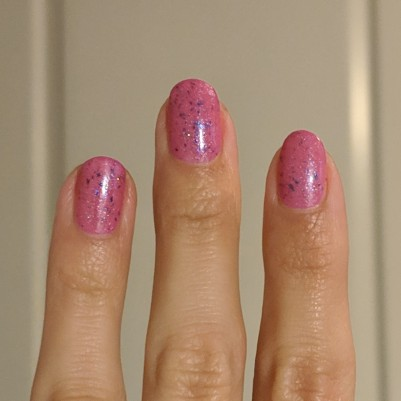 Two coats of Ever After Polish - Race you to the Castle