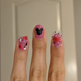 Placing all the decals on my nails