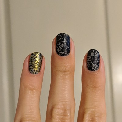 Added gold stamping to my ring finger