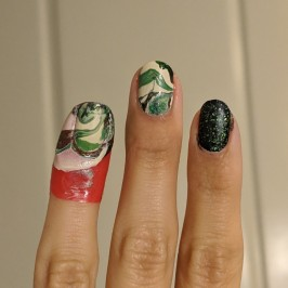 Not quite a watermarble on my nails though