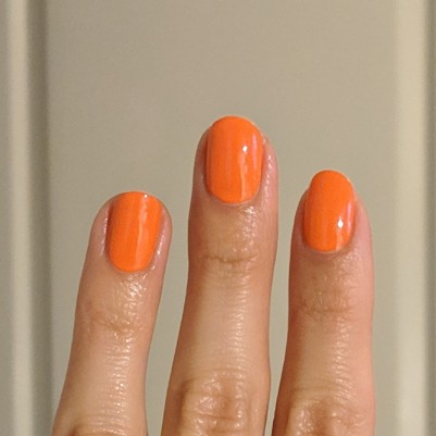 Two coats of Sally Hansen - Sun Kissed