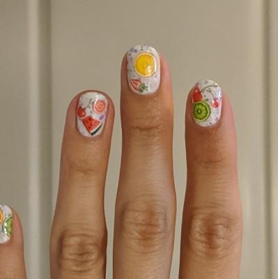 The nail stickers added randomly