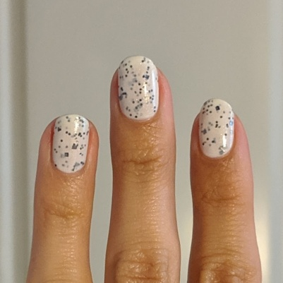 Three coats of Nail Hoot - Cookies & Cream