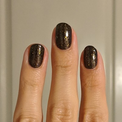 Two coats of Night Owl Lacquer - Luna