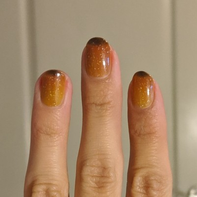Two coats of LevelUp Lacquer - Holoween