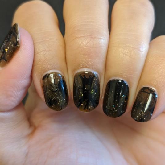 Left hand in the dark/black transition
